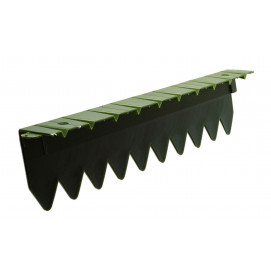 Bordure stop herbe avec rebord plat vert foncé