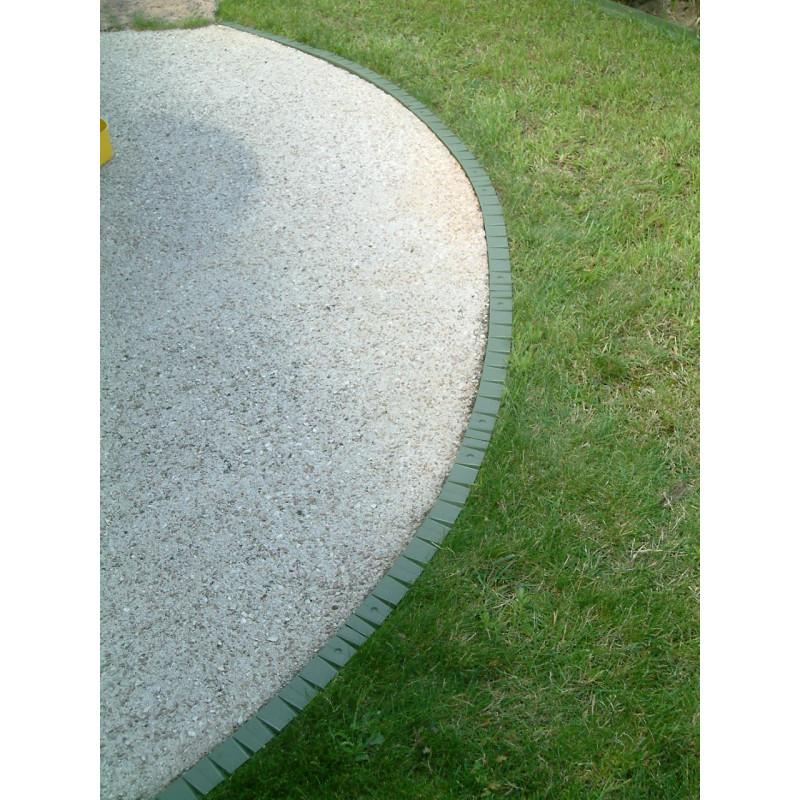 Bordure de gazon rebord plat en plastique jardin et saisons verte - Bordure de gazon ...