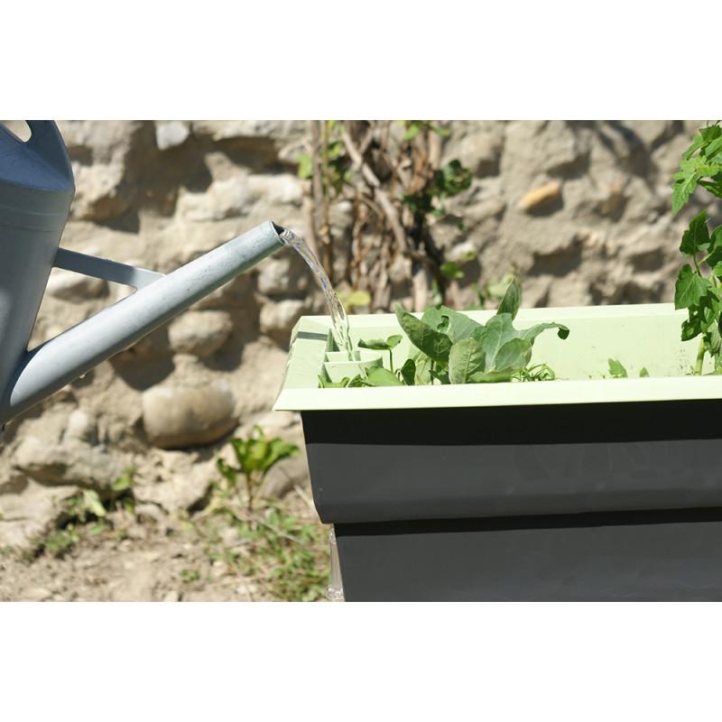 Bac potager sur pied de 40 l gris et vert chez jardin et saisons - Potager sur pieds ...
