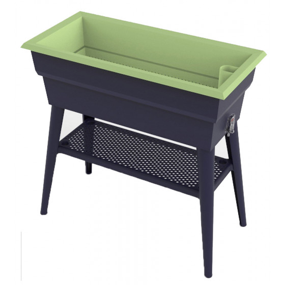 bac potager sur pied de 40 l gris et vert chez jardin et. Black Bedroom Furniture Sets. Home Design Ideas