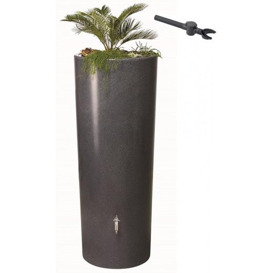 Récupérateur d'eau de pluie aspect pierre 350 L gris anthracite
