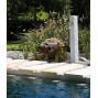 Fontaine de jardin imitation gris clair