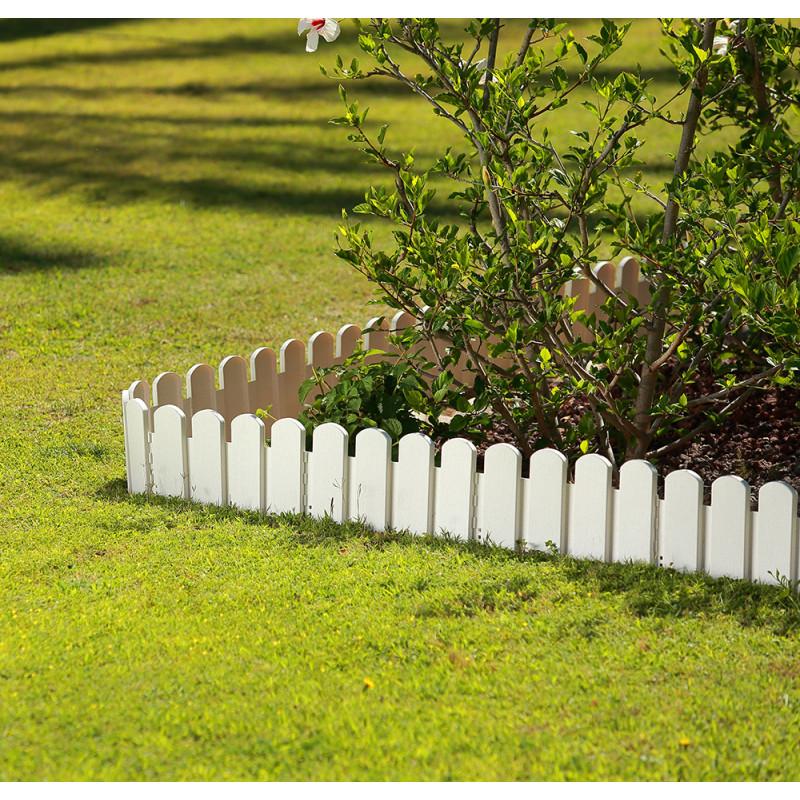 bordurette de jardin ornementale blanc h 20 cm. Black Bedroom Furniture Sets. Home Design Ideas