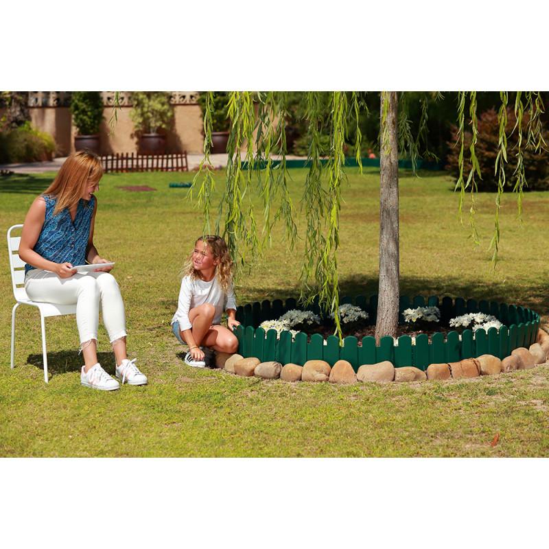 Bordurette de jardin ornementale vert h20 cm jardin et Bordurette de jardin