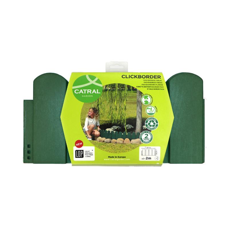 bordurette de jardin ornementale vert h20 cm jardin et saisons. Black Bedroom Furniture Sets. Home Design Ideas