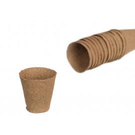 Godet pour semis en tourbe rond et biodégradable diam 6 cm