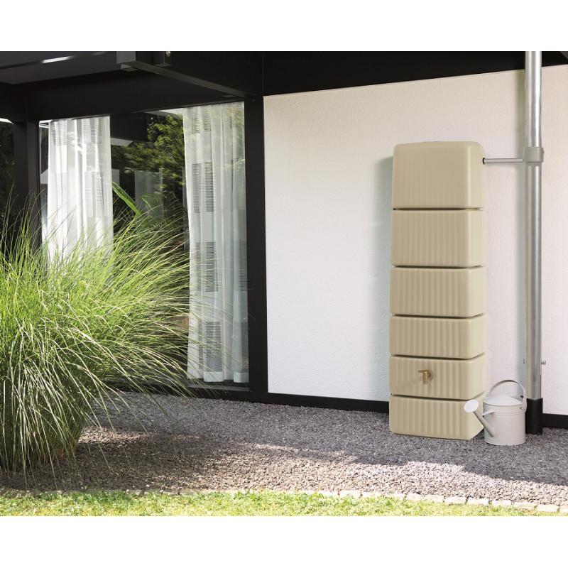 r cup rateur d 39 eau de pluie mural 300 l sable. Black Bedroom Furniture Sets. Home Design Ideas