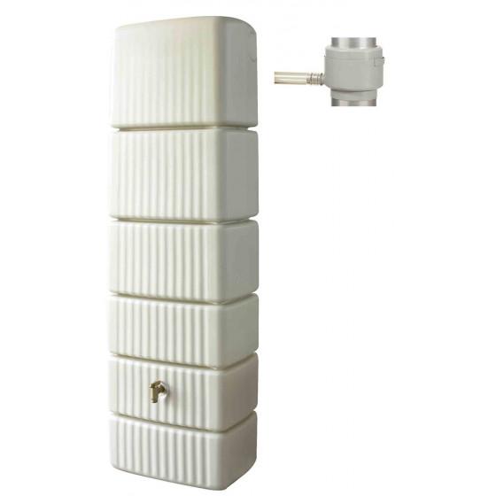 Récupérateur d'eau de pluie mural 300 L sable