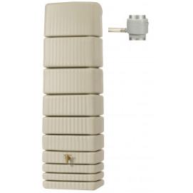 Récupérateur d'eau de pluie mural 650 L sable
