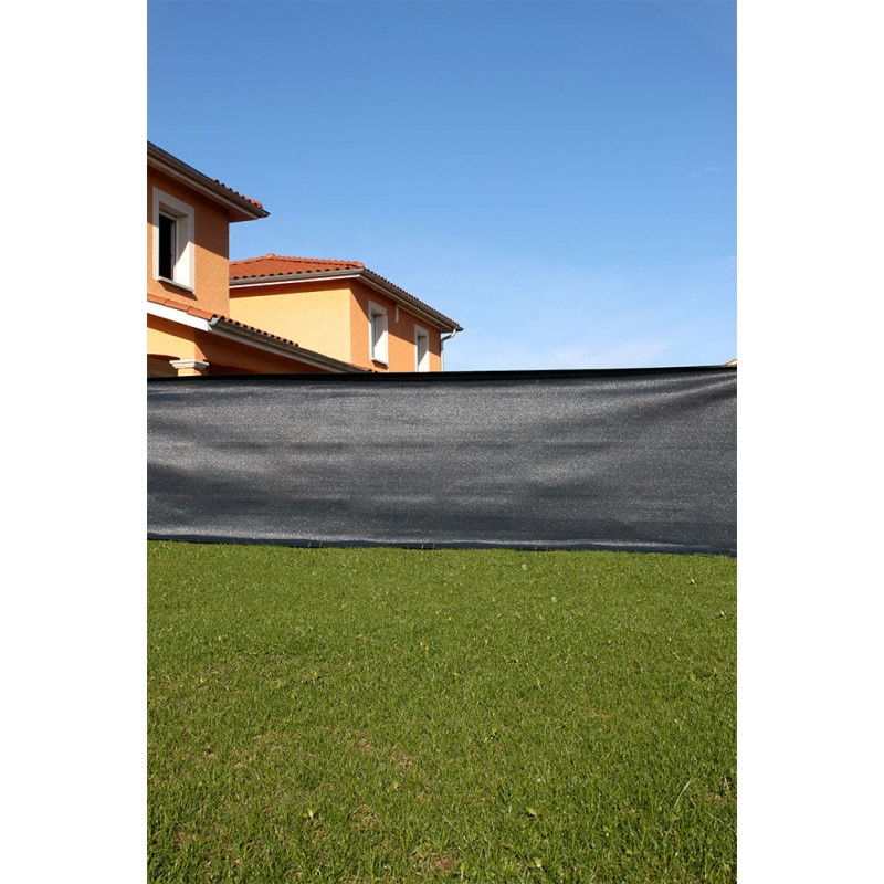 brise vue occultant gris anthracite d 39 une hauteur de 1 50 m. Black Bedroom Furniture Sets. Home Design Ideas