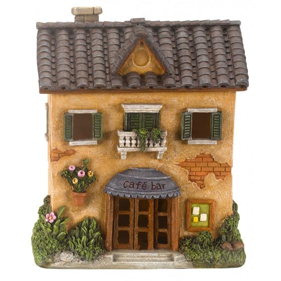 Maison miniature pour décoration solaire extérieure
