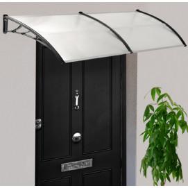 Marquise auvent de porte d'entrée en polycarbonate 80-120 cm