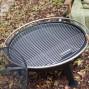 Brasero de jardin avec grille de cuisson