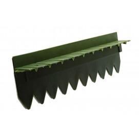 Bordure stop herbe avec rebord surélevé vert foncé