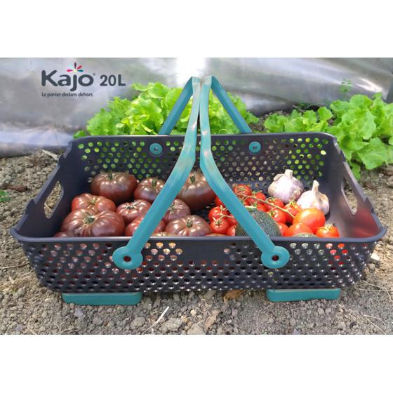 Panier de cueillette Kajo 20 L en plastique ajouré