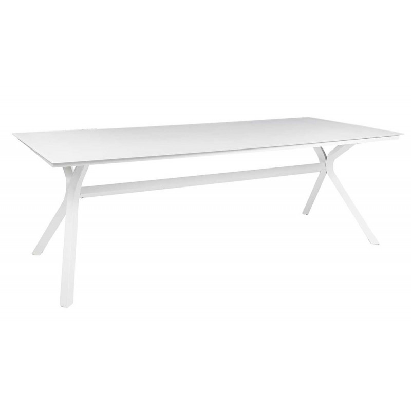 Ensemble table et chaise de jardin en aluminum et verre blanc - Ensemble chaise et table ...