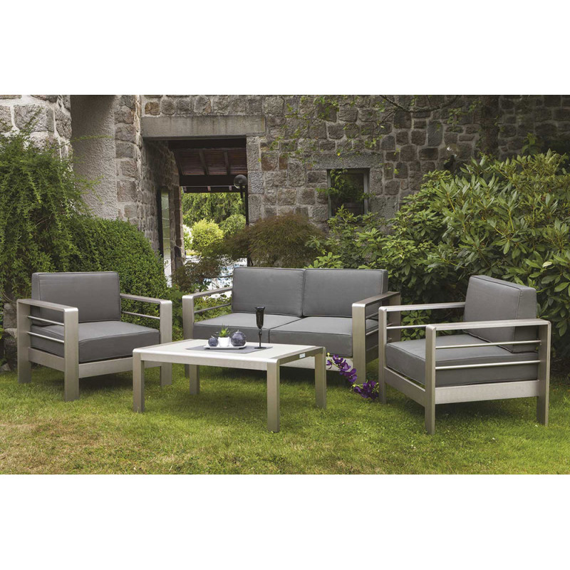 salon de jardin galapagos table basse canap 2 places et 2 fauteuils. Black Bedroom Furniture Sets. Home Design Ideas