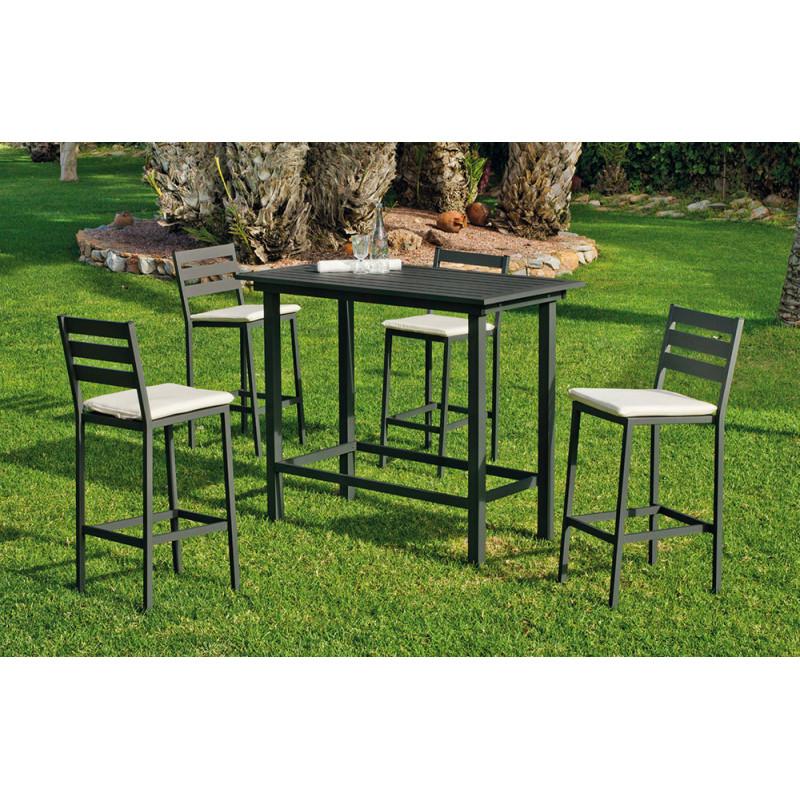 bel ensemble mange debout ext rieur en aluminium de jardin et saisons. Black Bedroom Furniture Sets. Home Design Ideas