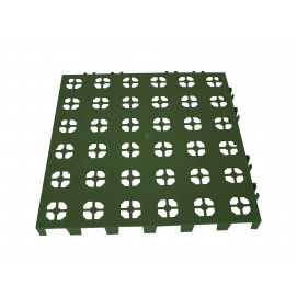 Dalle de jardin en plastique clipsable verte 30 x 30 cm