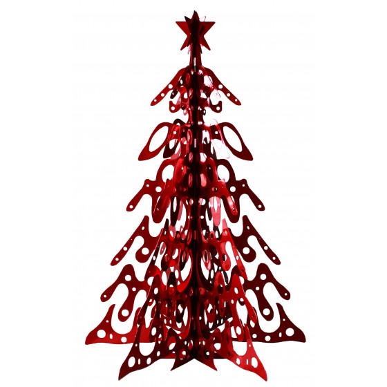 sapin de noel en m tal 1 m rouge vernis chez jardin et saisons. Black Bedroom Furniture Sets. Home Design Ideas