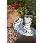 Galet de jardin décoratif blanc en plastique recyclé φ 3-4 c