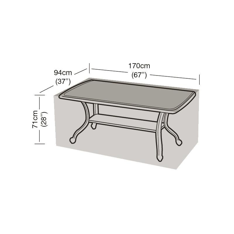 Housse de protection table de jardin rectangulaire noire ...