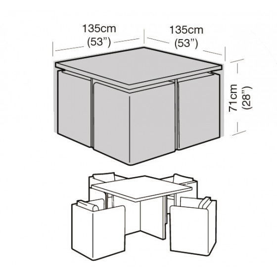 housse de protection salon de jardin encastrable de jardin. Black Bedroom Furniture Sets. Home Design Ideas