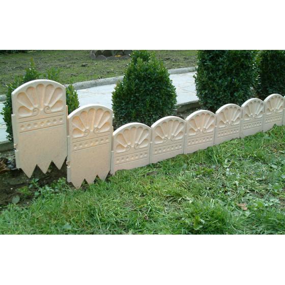 Bordure décorative de jardin ton pierre