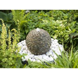 Fontaine de jardin en pierre naturelle sphère