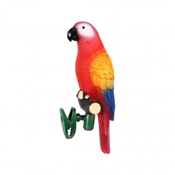 Perroquet solaire clipsable rouge