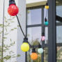 Guirlande guinguette exterieur multicolore 3 m