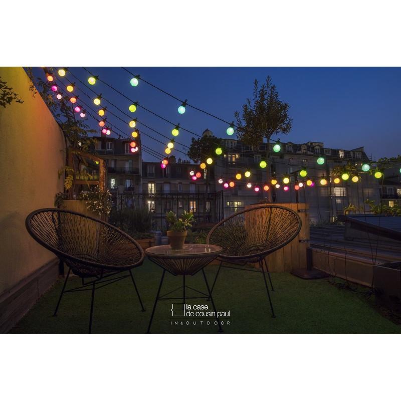 votre guirlande guinguette exterieur multicolore de jardin. Black Bedroom Furniture Sets. Home Design Ideas