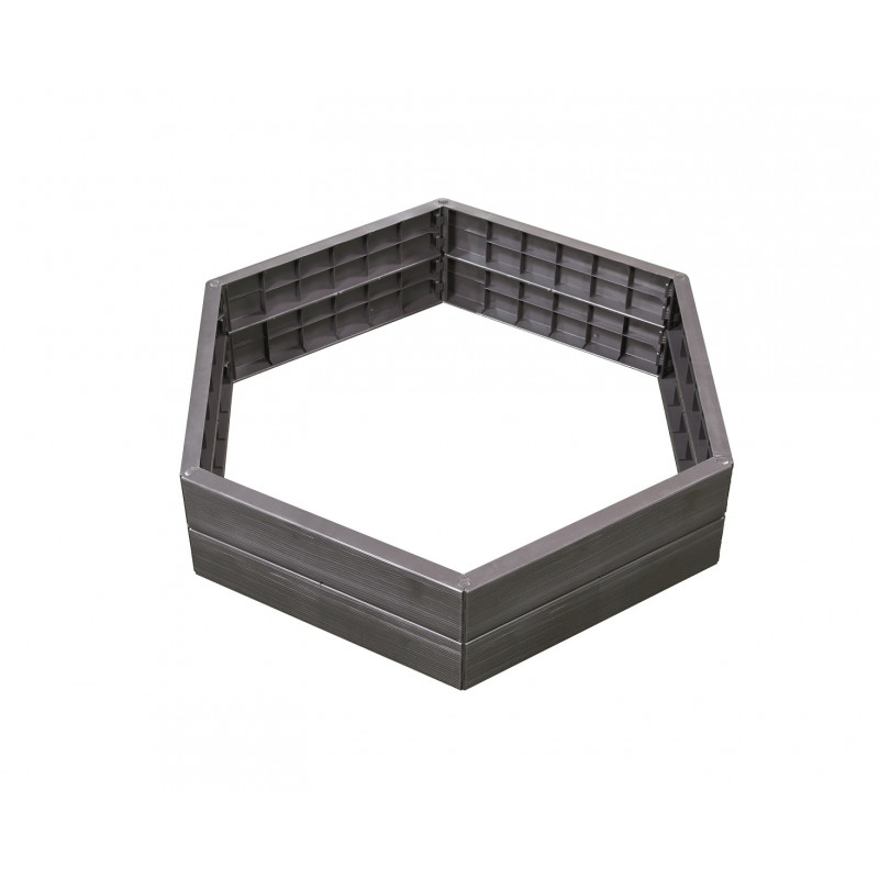 Jardin et Saisons présente son carré potager hexagonal en ...