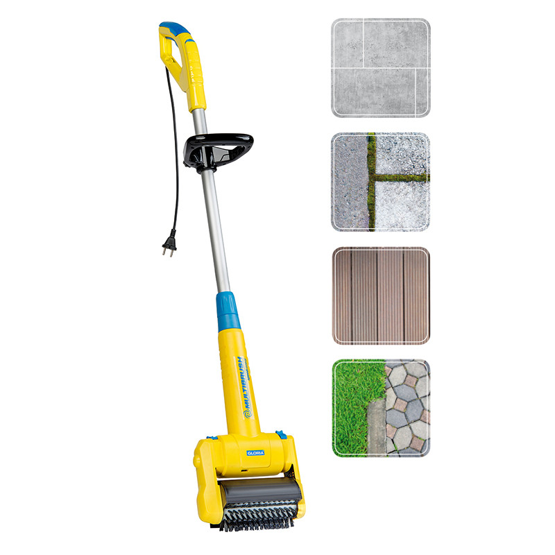 Brosse electrique pour nettoyer terrasse et joints - Jardin et Saisons