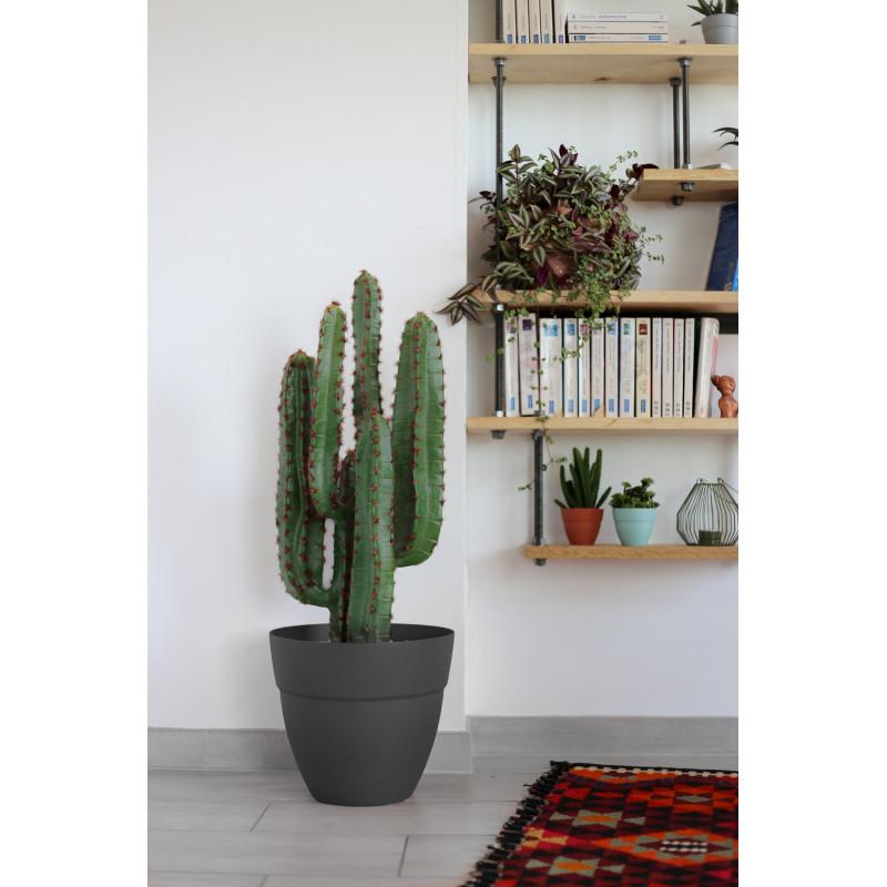 pot de fleur gris anthracite rond 11 7 litres chez jardin. Black Bedroom Furniture Sets. Home Design Ideas