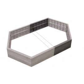 Extension carré potager hexagonal en plastique H 25 cm