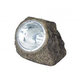 Spot solaire rocher à LED blanche