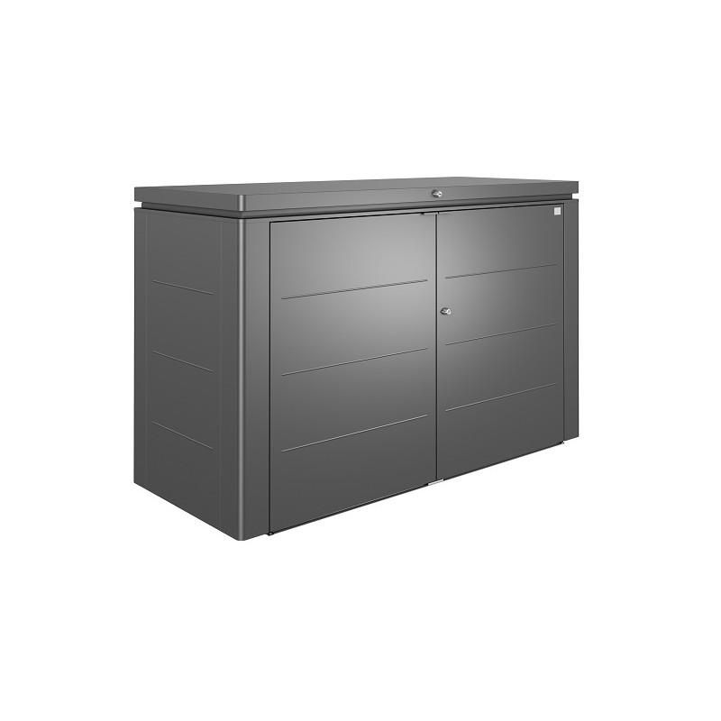 Coffre de rangement exterieur poubelle et vélo en métal Biohort