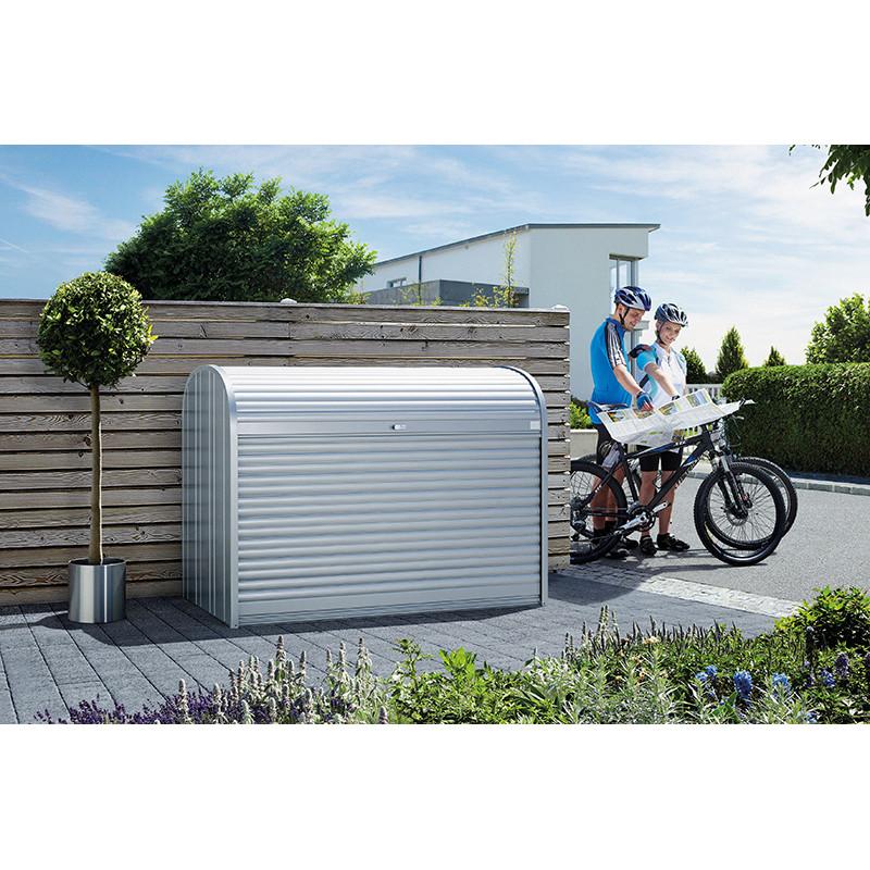 Coffre de rangement metal pour vélo et poubelle 2080 L haut de gamme