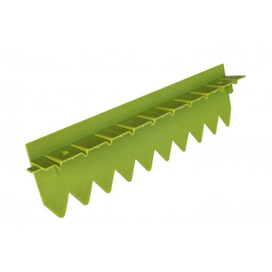 Bordure stop herbe rebord surélevé vert anis