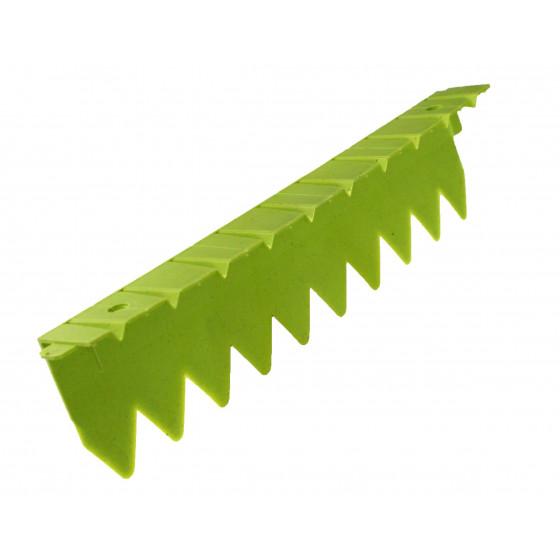 Bordure stop herbe avec rebord plat vert anis