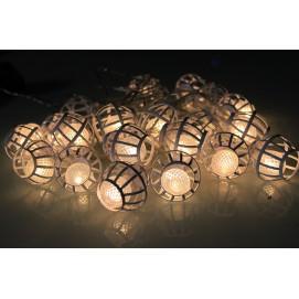 Guirlande solaire lampions blancs 380 cm