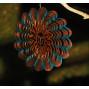 Mobile a vent en metal décor soleil diamètre 30 cm