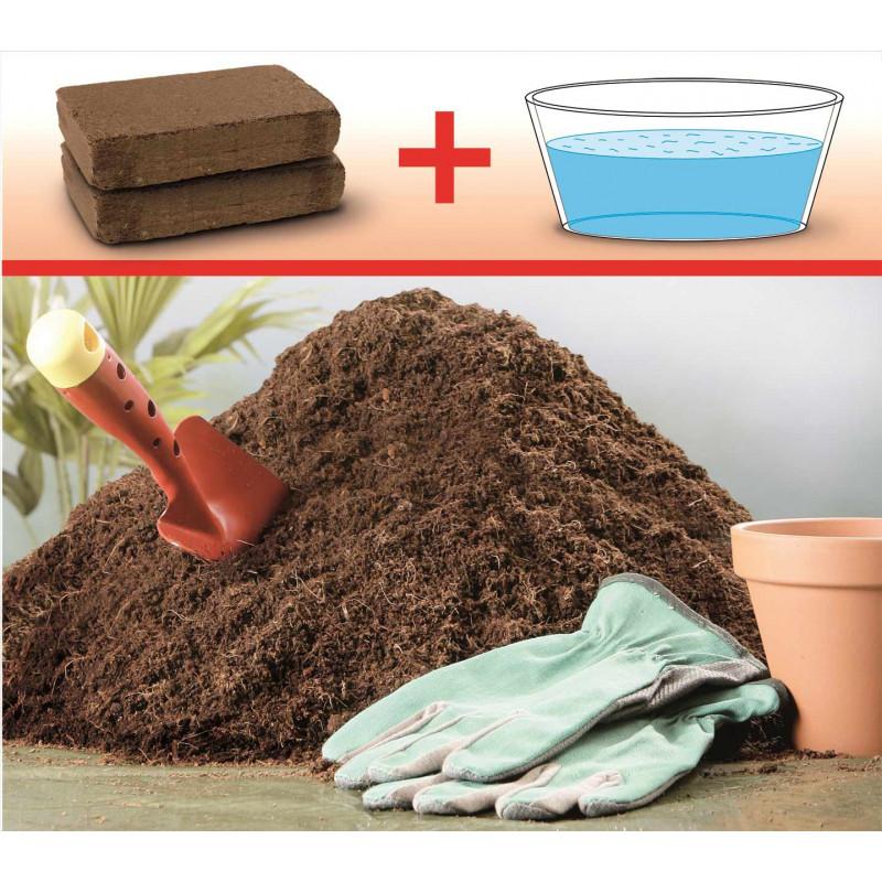 Terreau coco compress en briquettes jardin et saisons for Terreau