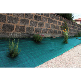 Toile de paillage verte spéciale paysage (largeur de 2,10 m)