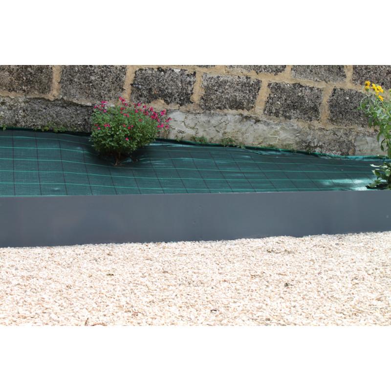 Bordure De Jardin En Acier Gris Anthracite H 25 Cm Jardin