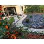 Bordure de jardin en acier fer vieilli ajourée H 18 cm