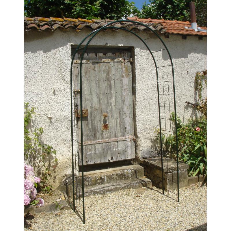 arche de jardin en m tal double treillage jardin et saisons. Black Bedroom Furniture Sets. Home Design Ideas