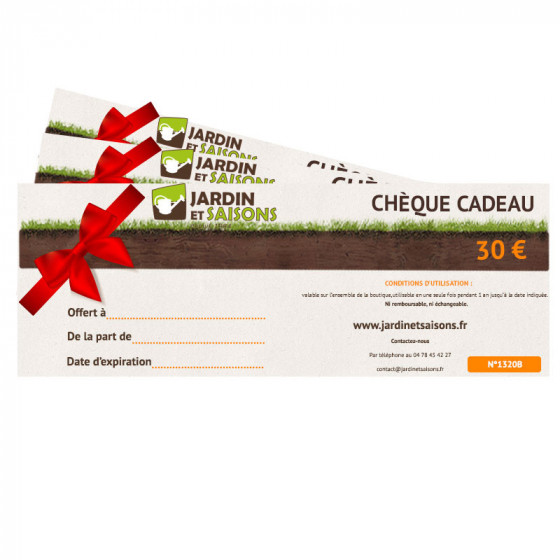 CHEQUE CADEAU 30 € Jardin et Saisons