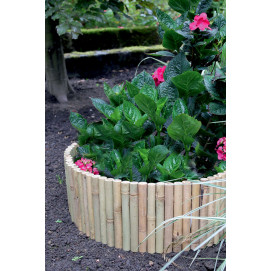 Bordure de jardin en bambou naturel 2 m